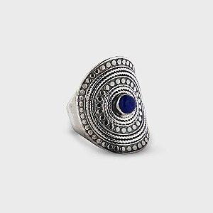 Anel Mandala trabalhado em Prata 925 e Pedras Naturais