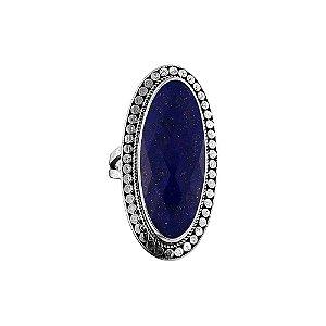anel oval prata 925 quartzo rosa, ágata verde ou lápis lazúli