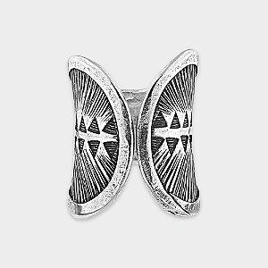 Anel Rústico Formas Prata 925