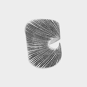 Anel Rústico Riscado Prata 925