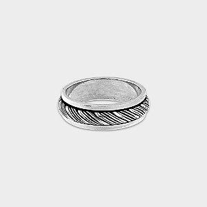 Anel Saturno Prata 925