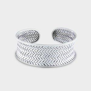 Bracelete Trançado em Prata 925