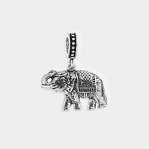 Charm Elefante Indiano Prata 925