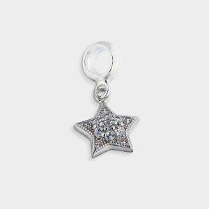 Charm Estrela com Zircônia
