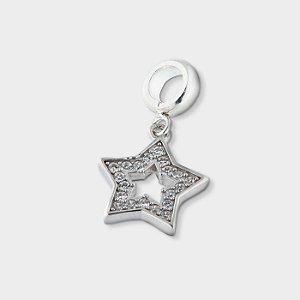 Charm Estrela Vazada com Zircônia