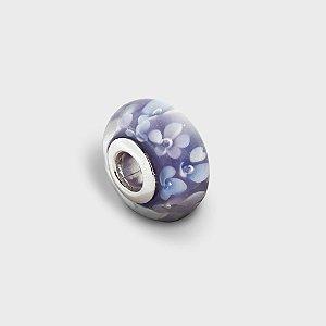 Charm Murano Violeta Prata 925