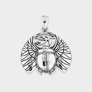 Pingente Escaravelho com Olho de Hórus Prata 925