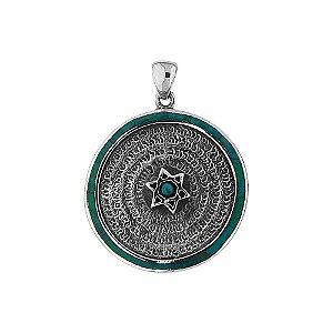 Pingente Estrela de Davi e Deuses Prata 925 e Pedra de Salomão