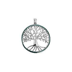 Pingente Místico Árvore da Vida Prata 925 e Pedra de Salomão