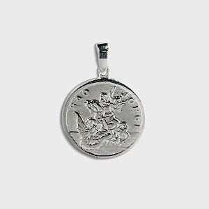 Pingente São Jorge em Prata 925