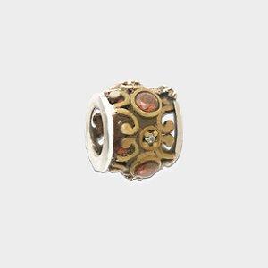 Charm Dourado com Zirconia em Prata 925