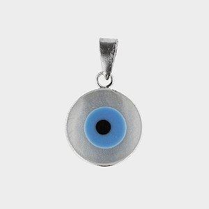 Pingente Olho Grego em Madrepérola e Prata 925
