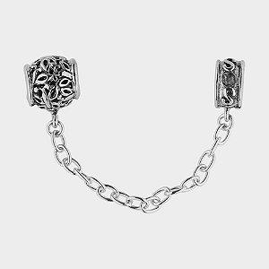 Pega Ladrão Dois Pingentes em Prata 925 para Pulseiras Charm