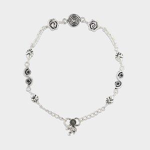 Tornozeleira  Elementos em Prata 925