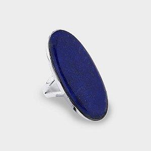 Anel Oval Lápis Lazúli em Prata 925