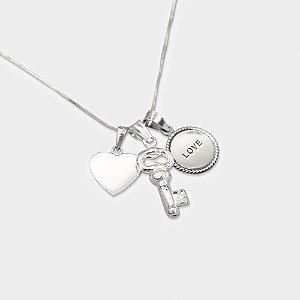 Conjunto Love em Prata 925