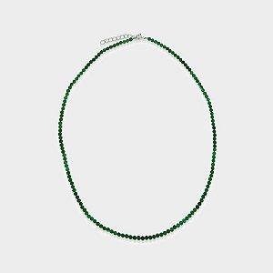 Colar Mahara em Prata 925 e Ônix Verde