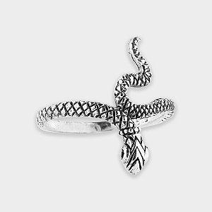 Anel Cobra Fino em Prata 925