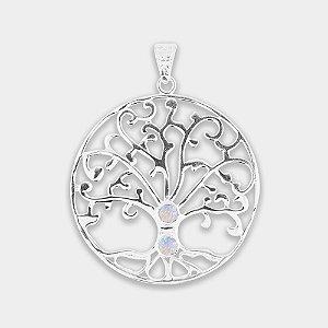 Pingente Árvore da Vida em Prata 925 e Pedra da Lua