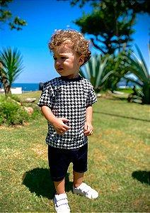 Camiseta Infantil Xadrez