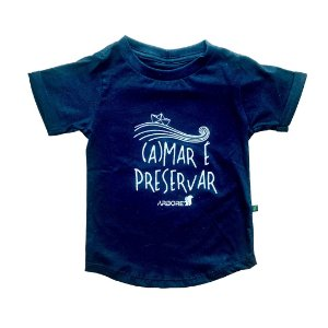Camiseta Bebê Long Amar Preta