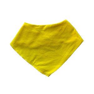Babador Bandana Algodão Orgânico Amarelo Liso