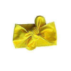 Faixa de Cabelo Algodão Orgânico Amarelo Liso