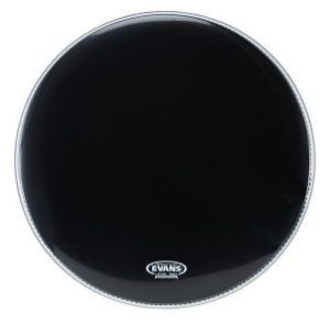 Pele de Resposta de Bumbo Evans Resonant Black 22''