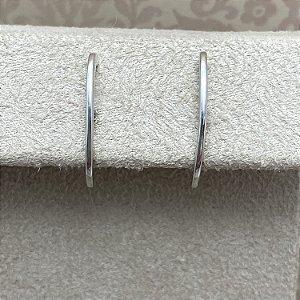 Brinco Ear Hook Liso Semijoia Ródio