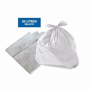 Saco para lixo 20 Litros Branco Pct C/ 100 Unidades - Dr. Luvas