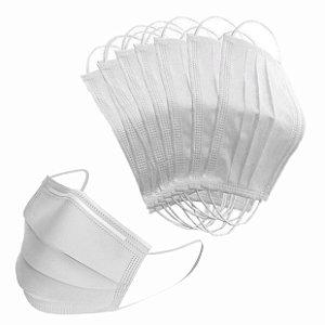 Máscara Tripla Branca com Elástico Pct c/ 50 Unds - Open Medical