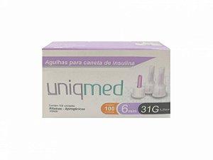Agulha para Caneta de Insulina UNIFINE 6mm - Testline