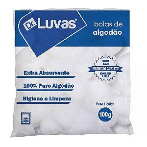 Algodão Bola 100g -  Dr. Luvas