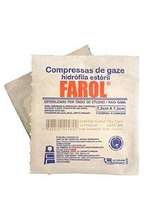 Compressa de Gaze Estéril 13 fios - Farol
