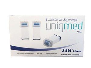 Lancetas de Segurança 23G x 1,8mm - Uniqmed