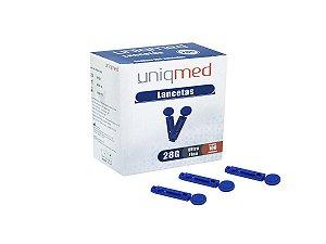 Lancetas para Lancetador Cx c/ 100unds - Uniqmed