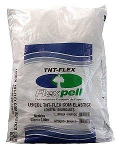 Lençol Descartável TNT Branco C/ Elástico 30G Cx c/ 10 Pcts - Flexpell