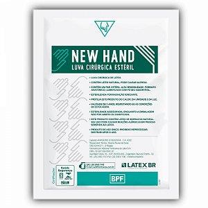 Luva Cirúrgica Estéril c/ Talco Cx c/ 200 Pares - New Hand