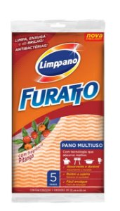 Pano Multiuso Furatto Pitanga Pct c/ 5 Unds - Limppano