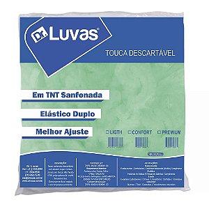 Touca Descartável Sanfonada TNT Verde - Dr Luvas