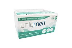 Seringa 1 mL com Agulha 6,0 x 0,25mm Caixa com 10 Pacotes - Uniqmed
