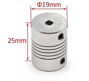Acoplador flexivel  em aluminio 5X8mm