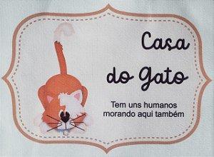 Plaquinha Casa do gato 3
