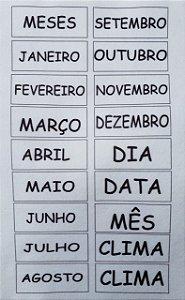 Calendário Montessoriano Português Branco