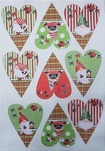 Coração Patchwork Natal