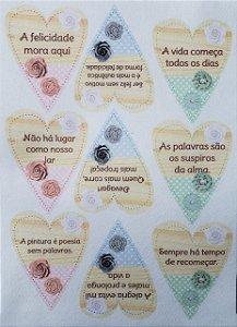 Coração Patchwork Frases