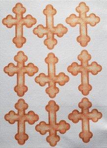 Crucifixo 9cm Aquarela para Mini Terço