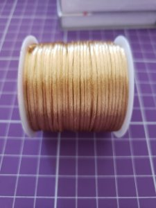 Cordão Cetim  1mm Ouro