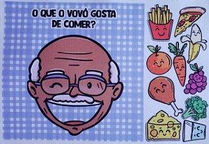 Livro- O que  vovô gosta de comer? 2