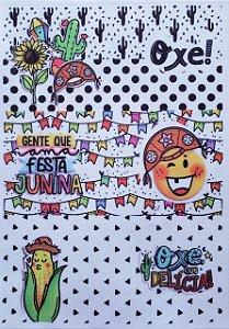 Capa para caneca festa junina
